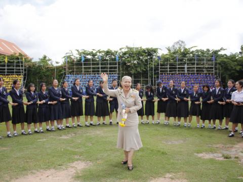 มุทิตาคาระวะ โดยสภานักเรียนและนักเรียนโรงเรียนสตรีศึกษา ปี 2561